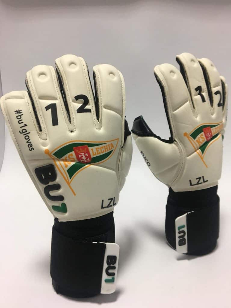 Dusan Kuciak 2019 custom BU1 gloves pair