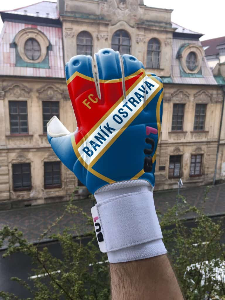 FC Banik Ostrava custom BU1 gloves pair